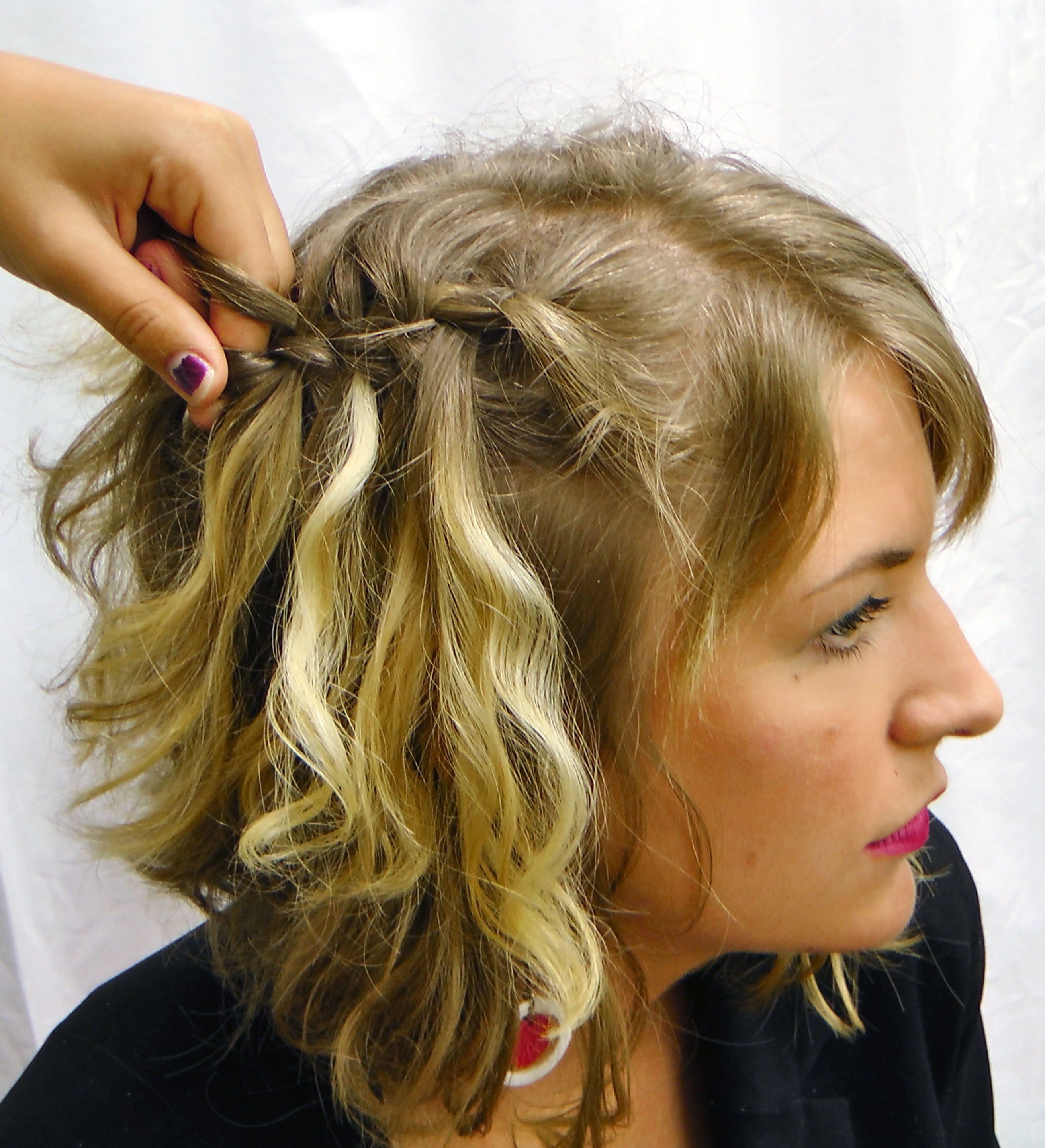 To curl the waterfall strands to achieve a more sophisticated look