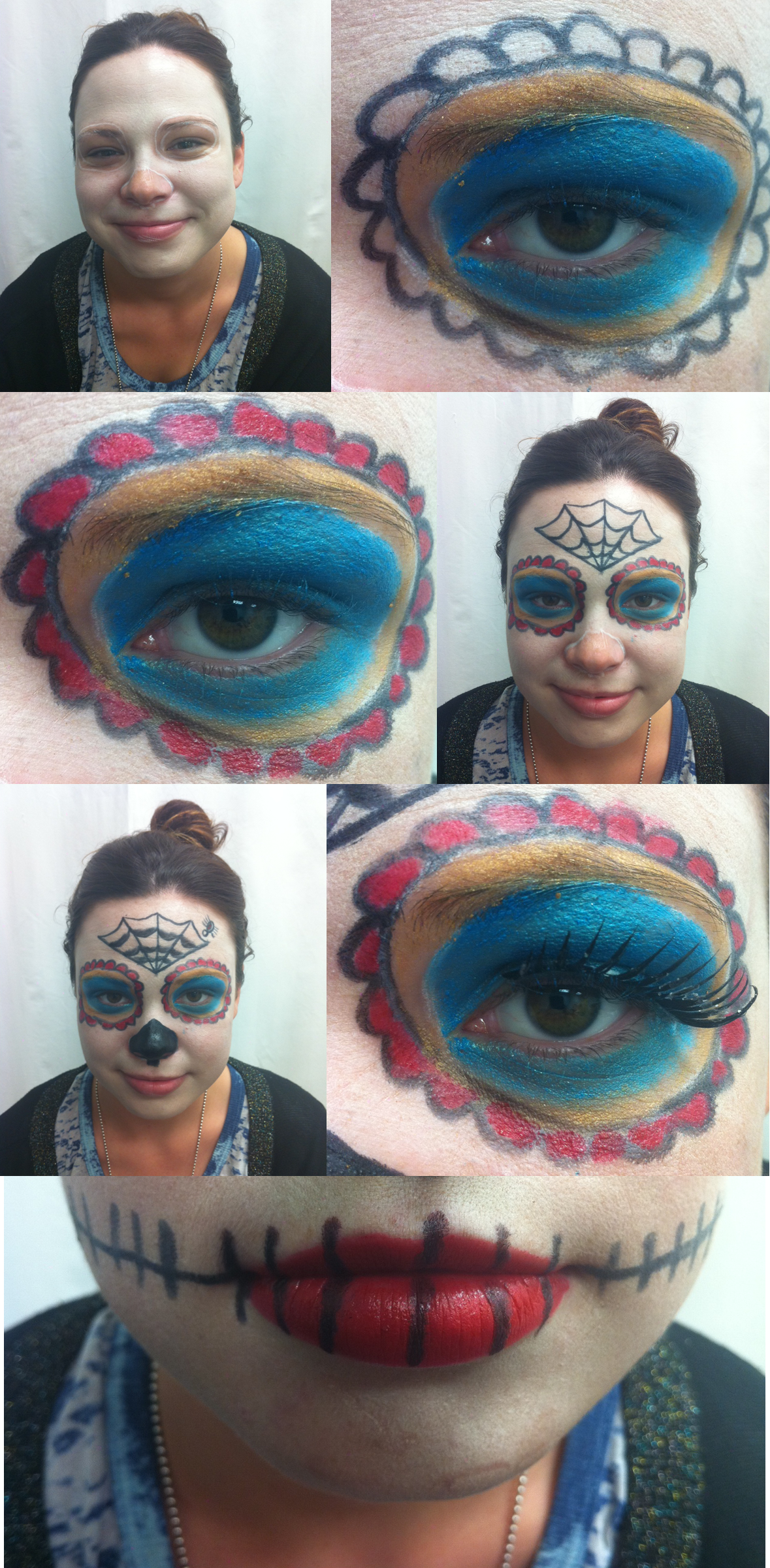Sugar Skull Costume how to steps for scentsa beauty